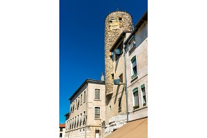 Ancient clock tower in Vienne