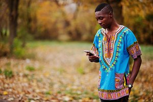 African man in africa traditional sh