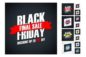 12 Black Friday Sale Cards