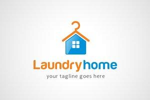 Laundry Home Logo Design / icon