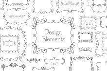 Vintage Decoration Design Elements