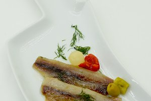 marinated anchovies with olive oil
