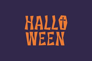 Typographic halloween letters logo