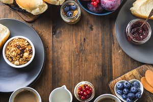 Cozy Breakfast food concept dark