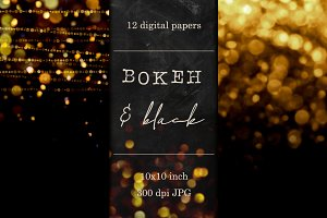 Gold and Silver Bokeh textures