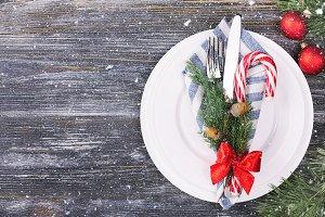 Christmas setting table