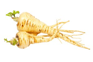 Parsnip isolated on white