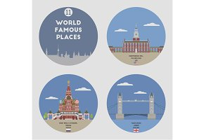World famous places. Set 11