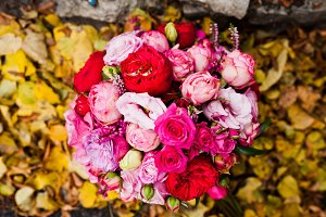 Wedding bouquet of rose and peony da