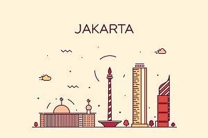 Jakarta skyline (Indonesia)