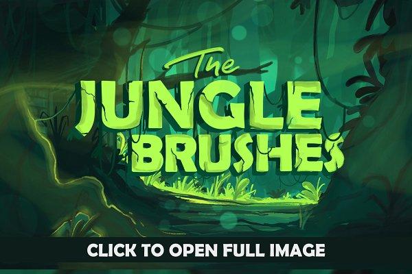 Photoshop Brushes: Leonard Posavec - The Jungle: Procreate Brushes