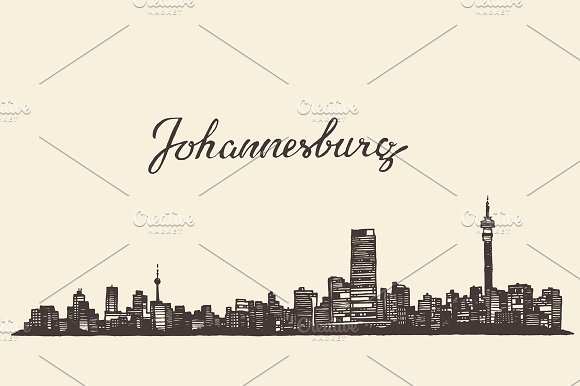 Johannesburg skyline south africa illustrations creative market johannesburg skyline south africa illustrations thecheapjerseys Choice Image