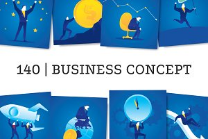 140 Modern Business Clipart Bundle