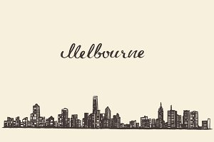Melbourne skyline (Australia)