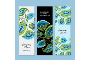 Business cards design, floral