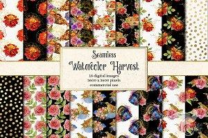 Watercolor Harvest Digital Paper