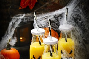 Orange coctail for fall and hallowee