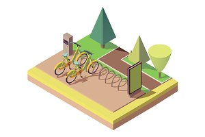 Bicycle parking in park
