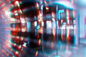 Cyberpunk neon street at night backg