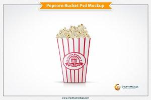 Popcorn Bucket Psd Mockup