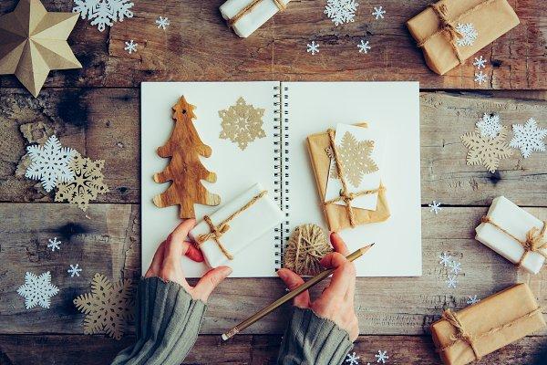 Holiday Stock Photos: Abstract Vanilla - Christmas gift boxes