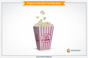 Popcorn Bucket Mockup Template
