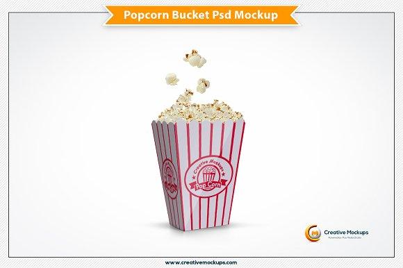 popcorn bucket mockup template product mockups creative market