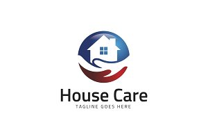House Care Center Logo Template
