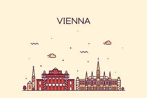 Vienna skyline (Austria)