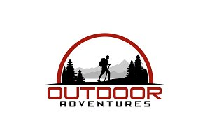 Hiking Outdoor Adventure Logo