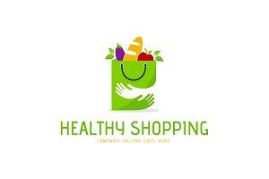 Healthy Shopping Logo Template