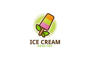 Nature Ice Cream Logo Template