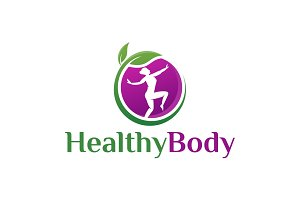 Healthy Body Yoga Logo Template
