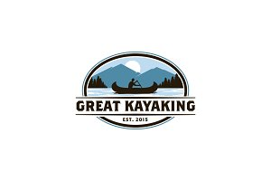 Kayaking Logo Template