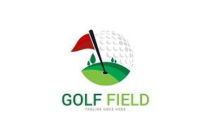 Golf Field Logo Template