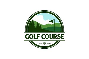 Golf Course Logo Template