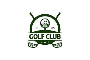 Golf Club Badge Logo Template