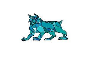 Bobcat Prowling Mosaic