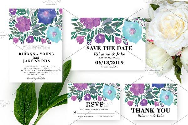 Flowers Wedding Suite Invitation
