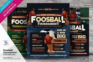 Foosball Tournament Flyer Templates