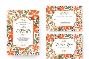 Flowers Wedding Suite Invitation
