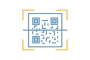 QR code scanner color icon