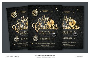 Golden Christmas Flyer - 2 formats