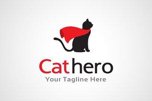 Cat Hero Logo Design