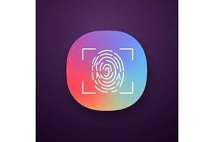 Fingerprint scanning app icon