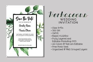Herbaceous Wedding Invitation