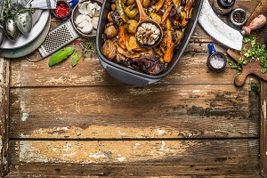 Roasted vegetables stew