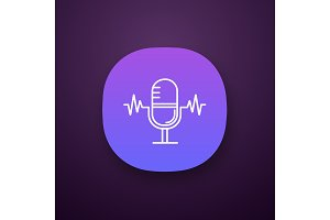Speech recognition app icon
