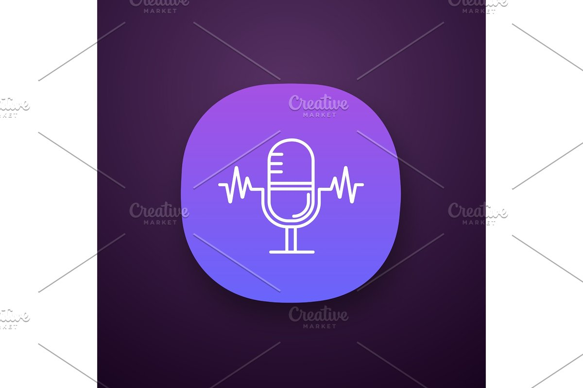 Speech recognition app icon