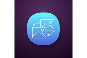 Data transforming app icon